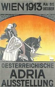 Poster jadranske izložbe  održana u Beču 1913.