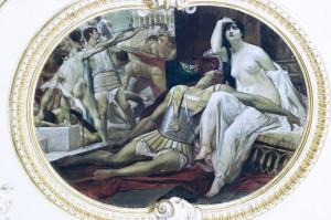 Ratna glazba je jedna od privih radova Gustava Klimta. Danas se nalazi u riječkom teatru.