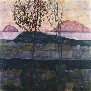Egon Schiele- Versinkende Sonne